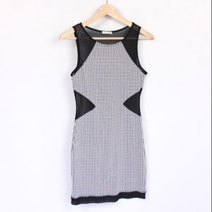 Sexy Houndstooth Cutout Dress